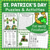 St. Patrick's Day Puzzles and Activities Pack