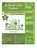 St. Patrick's Day Puzzlers!  9 Literacy and Math Puzzles for 3rd - 5th Grade