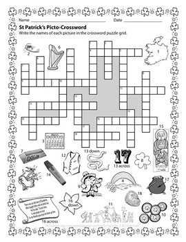 St Patrick's Day Puzzles for Grades 4 to 6