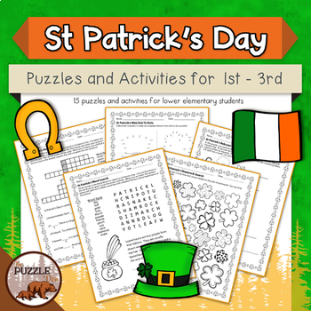 St Patrick's Day Puzzles for Grades 1 to 3