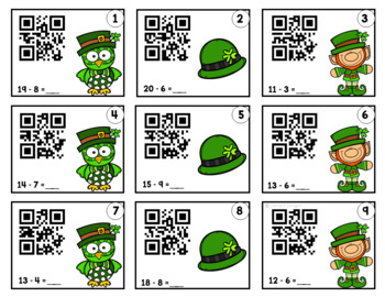 St. Patrick's Day ~ QR Addition Task Cards