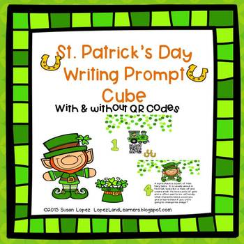 #STPADDYSALE St. Patrick's Day QR Code Writing Prompt Cube