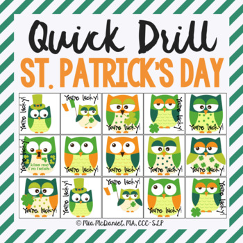 Quick Artic St. Patrick's Day Game {for speech therapy or any skill drill}