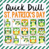 St. Patrick's Day Quick Artic (Articulation) Game {perfect