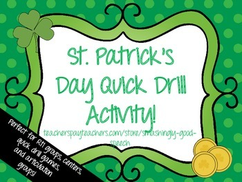 St. Patrick's Day Quick Drill Activity - Open Ended Game!
