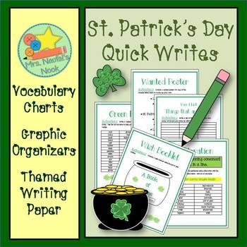 St. Patrick's Day Writing - Alliteration, Recipe Writing,