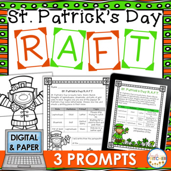 St. Patrick's Day RAFT Writing Activity