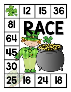 Race to Gold A Multiplication Game (Printable)