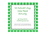 St. Patrick's Day Rainbow Coloring Sheet