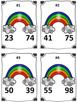 St. Patrick's Day Rainbow Comparing Numbers Math Center (Common Core)