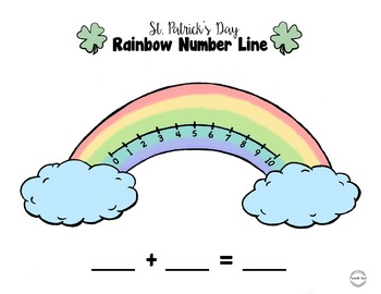 St. Patricks Day Rainbow Number Line