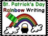 St. Patrick's Day Rainbow Writing