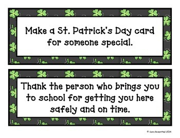 St. Patrick's Day Random Acts of Kindness