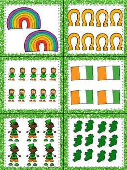 St. Patrick's Day Read, Write, and Count the Room {Literacy/Math Center} {CCSS}