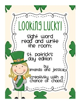 St. Patrick's Day: Read and Write the Room