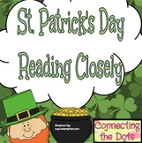 St. Patrick's Day- Reading Closely