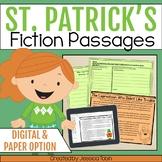 St. Patrick's Day Reading Comprehension- Digital Fiction Passages Google Slides