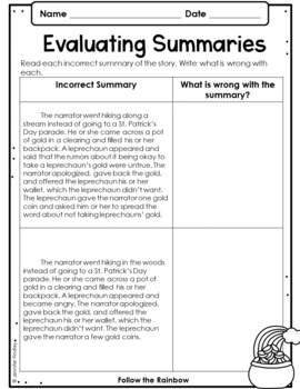 St. Patrick's Day Reading Comprehension Passages and Activities {Just Print}