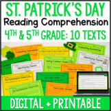 St. Patrick's Day Reading Comprehension - Digital St. Patrick's Day Activities