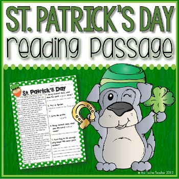 St. Patrick's Day Reading Passage