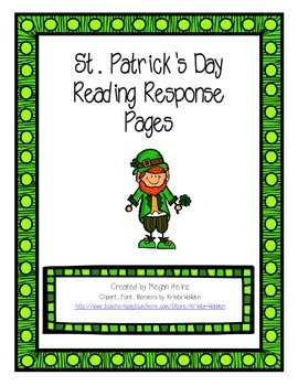 St. Patrick's Day Reading Response Pages