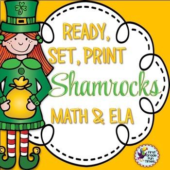 St. Patrick's Day Ready, Set, Print ELA and Math Updated