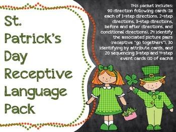 St. Patrick's Day Receptive Language Pack