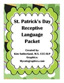 St. Patrick's Day Receptive Language Packet