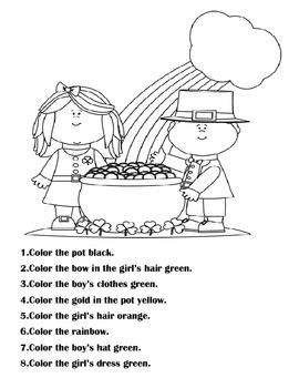 St. Patrick's Day Receptive Language Packet