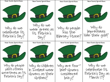 St. Patrick's Day Receptive Language Packet for Speech and Language Therapy