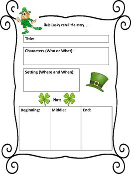 St. Patrick's Day Retell Page