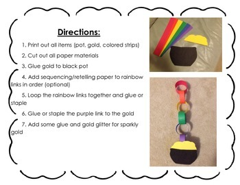 St. Patrick's Day Retell/Sequencing Craftivity