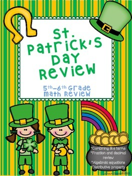 St. Patrick's Day Review: 6th Grade Math Review