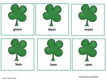 St. Patrick's Day Rhyming Game