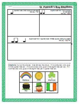 St. Patrick's Day Rhythm Activity