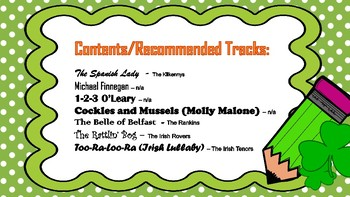 St Patricks Day Rhythm Worksheet Bundle - 7 Songs