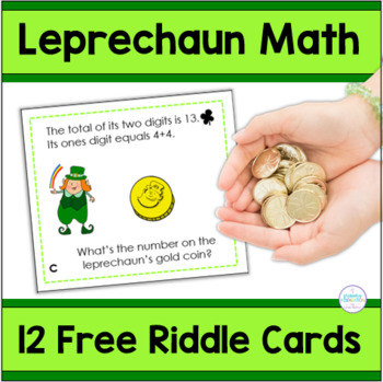 St. Patrick's Day Riddles Two-Digit Numbers Free