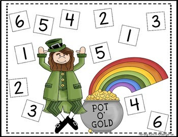 St. Patrick's Day Roll & Cover Number Recognition Games!