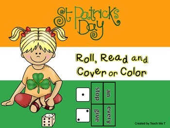 St. Patrick's Day Roll Read and Cover or Color