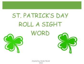 Roll a Sight Word- St. Patrick's Day