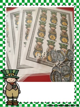 St. Patrick's Day Roll and Cover for Multiplication Center Activity