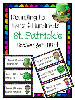 St. Patricks Day Rounding Scavenger Hunt