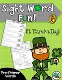 St. Patricks Day SIGHT WORD FUN