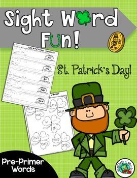St. Patricks Day SIGHT WORD FUN
