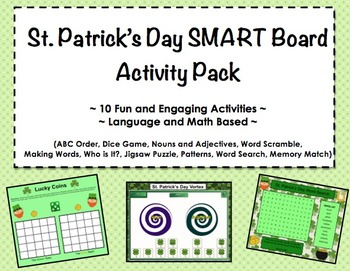 St. Patrick's Day SMART Board Activity Pack ~ 10 Activitie