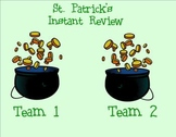 St. Patrick's Day SMART Board Instant Review Game