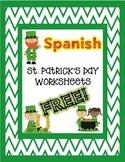 St. Patrick's Day SPANISH Worksheets