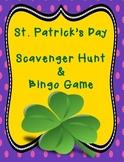St. Patrick's Day Scavenger Hunt & Bingo Game