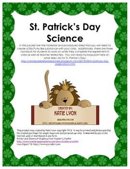 St. Patrick's Day Science Lab