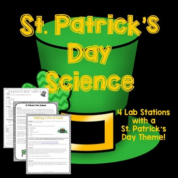St. Patrick's Day Science Lab Activities/Stations